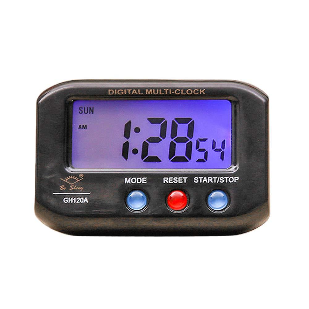 LiPing 2.6'' LED Digital Backlight LED Display Table Alarm Clock Snooze Thermometer Calendar Alarm Clock Multifunction Sunrise Alarm Clock (Black)