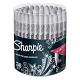 Sharpie 9597 Metallic Permanent Markers, Fine Point, Silver, 36 Pack