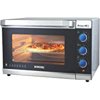 Borosil Prima 48 L OTG, with Motorised Rotisserie and Convection, 2000 W, 6 Stage Heating Function, Silver