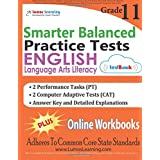 SBAC Test Prep: Grade 11 English Language Arts Literacy (ELA) Practice tests and Online Workbooks: Smarter Balanced Study Guide With Performance Task (PT) and Computer Adaptive Test (CAT)