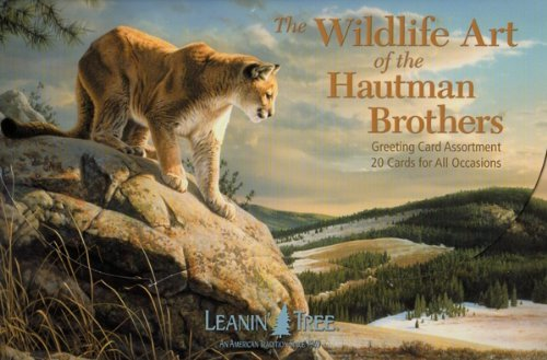 The Wildlife Art of the Hautman Brothers [AST90741] Greeting Card Assortment by Leanin' Tree - 20 cards with full-color interiors and 22 designed envelopes (Leanin Tree Boxed Cards)