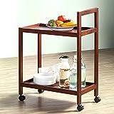 Solid wood moving dining car / cart / rack / multi-storey, multi-purpose kitchen storage cart
