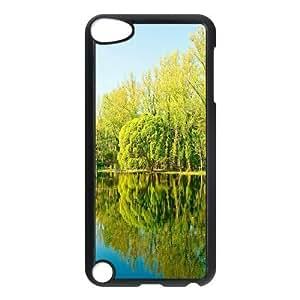 Doah Lake Ipod Touch 5 Cases Trees Lake Reflection, [Black]