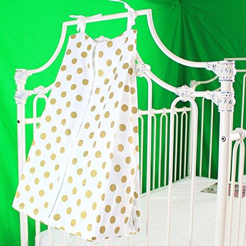 (Bold Bedding Medium Metallic Gold Dots Diaper Stacker Cotton (White)
