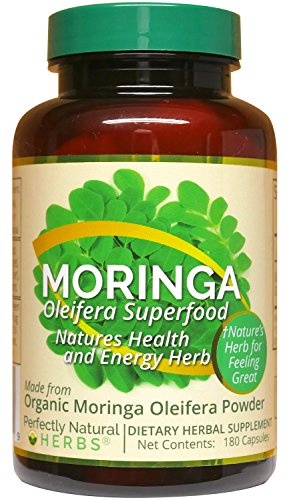 """This Is 150 Capsules"" by Perfectly Natural Herbs. Our Moringa Is Made From Certified Organic Moringa Leaves."