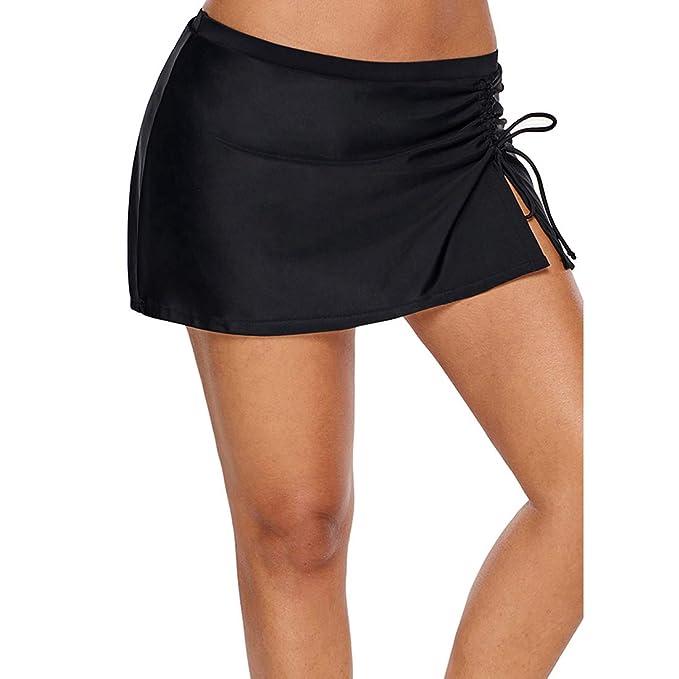 Damen Bikinihose Badeshorts Wassersport Minimizer Bikinirock A-Linie Bikini Slip