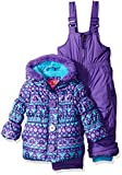 Pink Platinum Baby Girls' Infant Fair Isle Print Snowsuit, Purple, 24 Months