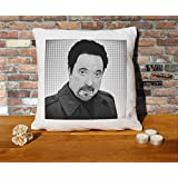 Tom Jones Cushion Pillow - Pop Art - 100% Cotton - Available with or without filling pad - 40x40cm (Cover and filling pad) by Stocking Fillers