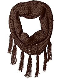 Women's Chunky Eternity Scarf with Fringe