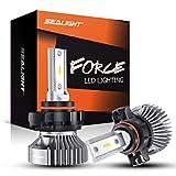 SEALIGHT 5202/5201/PS19W LED Fog Light Bulbs, Daytime Running Lights, Cool 6000K Xenon White, 4000 Lumen, Non-polarity