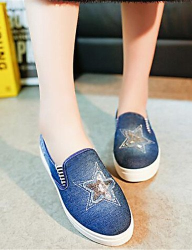 libero Dark Piatto Donna corda Scarpe Comoda Casual Tempo Blue Mocassini Blu ShangYi gyht Di 8Xx67X
