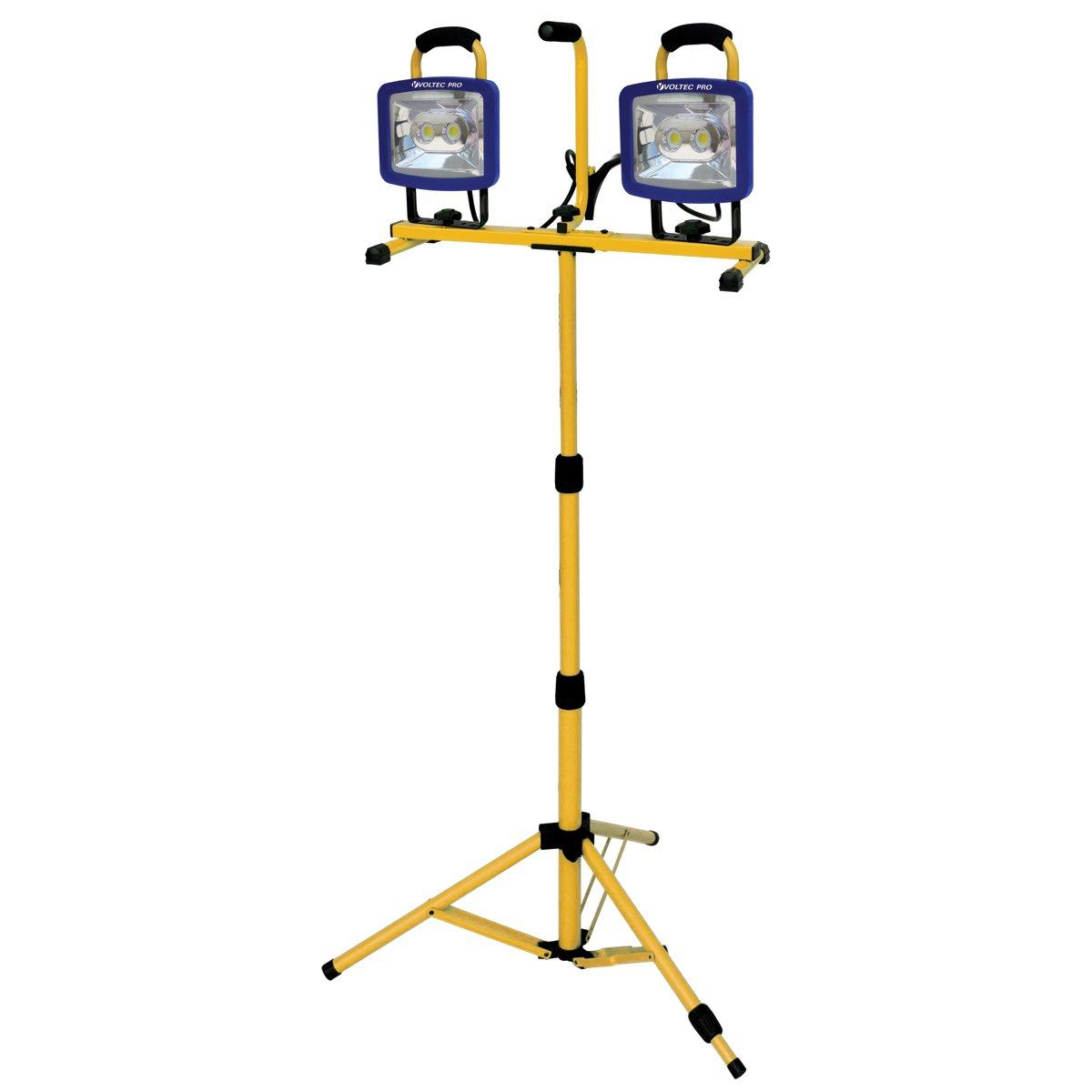Voltec 08-00716 Dual 44 Watt Cob AC LED Work Light with Tri-Pod Stand, 8400 Lumens