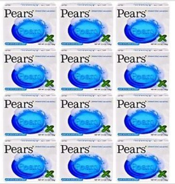 Lot of 12 Bars Pears Soap with Mint Extract