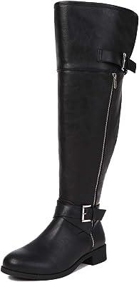 Sivellya Women's Quilted Side Zip Knee