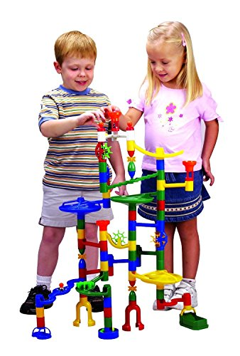 Edushape Marbulous Marble Run - 82 Pieces + 50 Marbles (Total 132 Pc Set) Sturdy Setups with Clear Step-by-step Illustrated Instructions in Four Different Skills Levels by Edushape (Image #2)