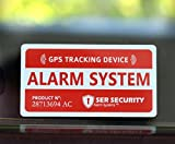 4pcs Satisfy Warning Tracking System Security GPS Alarm Car Stickers -  Thailand