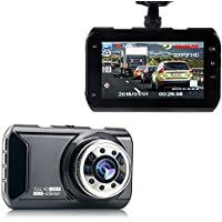 Hisili 3' LCD Dash Cam, Full HD 1080P, 160 Wide Angle Car Dashboard Camera, Vehicle Videos Recorder with Night Vision, G-Sensor, WDR, Loop Recording