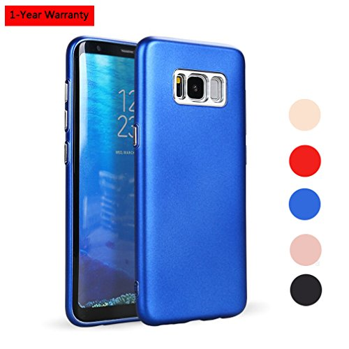 Galaxy S8 Plus Case,Silicone TPU Soft Slim Fit Matte Cover with Metallic Camera Protection for Samsung Galaxy S8+ Plus - (Matte Silicone)