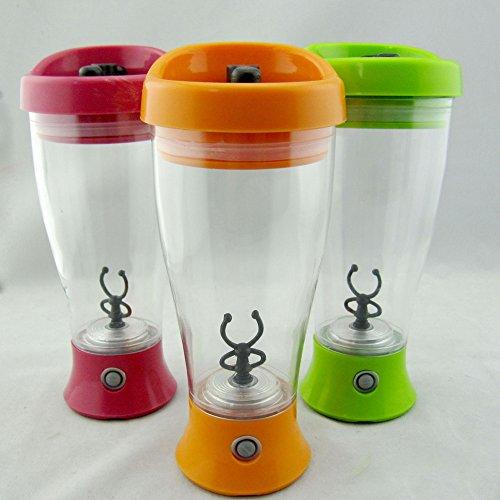 Dimart Battery-Operated Protable Digital Coffee Milk voiture self-stirring Mug Mixeur Shaker Cup Green