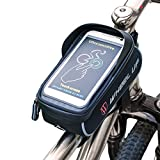 ASOSMOS Bike Bag, Bicycle Frame Bag & Pannier for iPhone X/6s/6s Plus/7/7 Plus/8/8 Plus ,Samsung Galaxy S7 S6 Plus and other 6.0' Mobile Phone