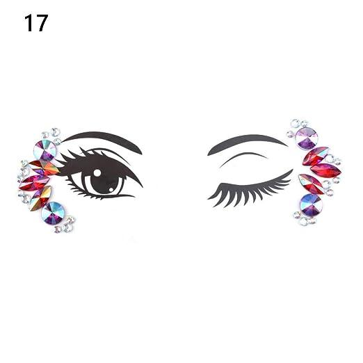 SDEFGH Etiqueta engomada del tatuaje 3PCS Crystal Eyes Tattoos ...