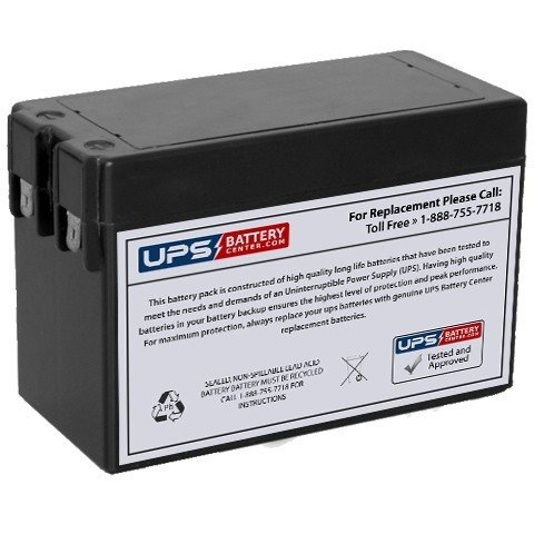 TLV1228 12V 2.8Ah Sealed Lead Acid Replacement Battery with F1 Terminals -