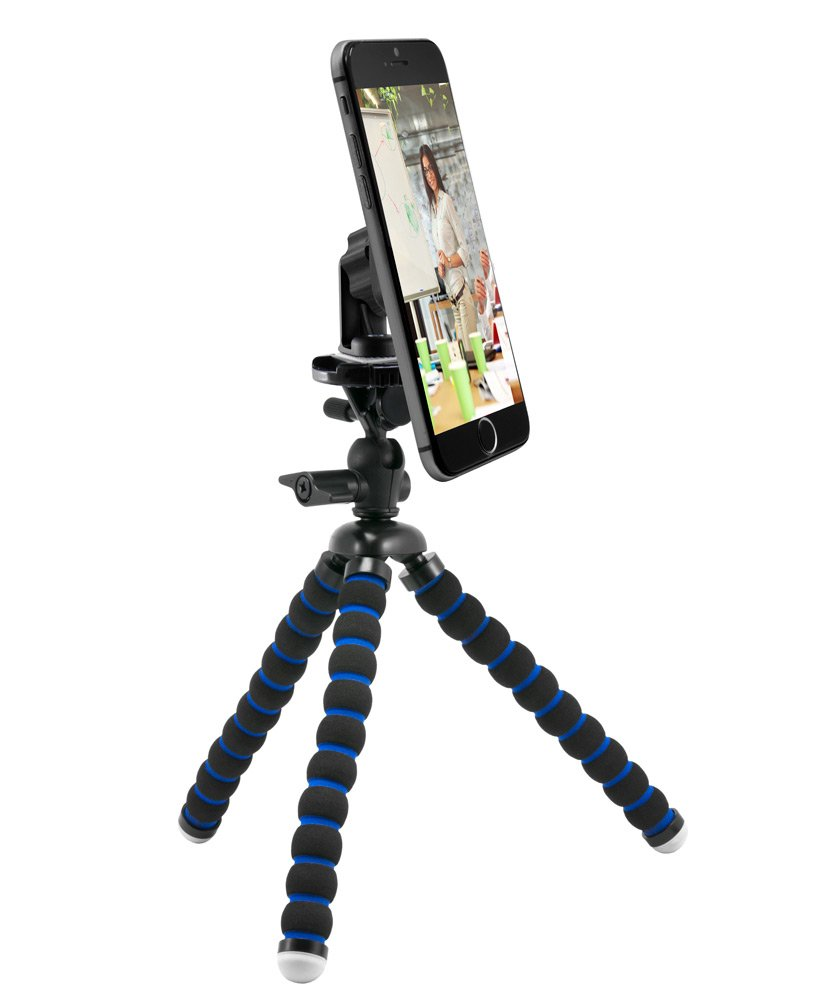 Arkon 11 inch Tripod Mount with Magnetic Phone Holder for Streaming Live Video Retail Black