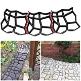 AquatMold Moldes de piedra para pavimento de piedra, para hormigón, pasillo, pavimento, 9 rejillas, bricolaje, entrada de jardín