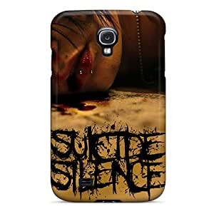 Scratch Protection Hard Phone Covers For Samsung Galaxy S4 (xlz797TeLe) Allow Personal Design Realistic Suicide Silence Image