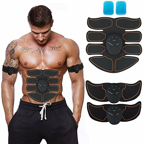 JoJoMooN Muscle Toner, Abdominal Toning Belt EMS ABS Toner Body Muscle Trainer Wireless Portable Unisex Fitness Training Gear for Abdomen/Arm/Leg Training Home Office Exercise Equipment