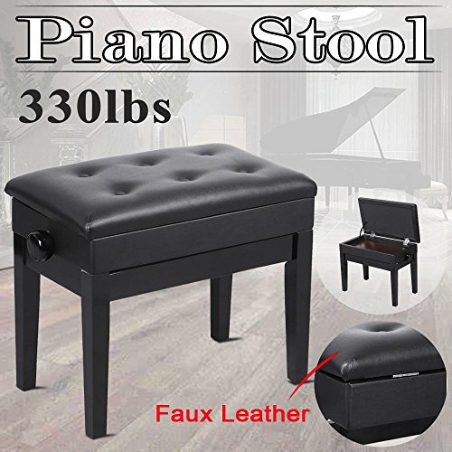 Top 10 recommendation adjustable piano bench with storage black