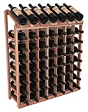 Wine Racks America Redwood 7 Column 8 Row Display Unit