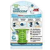 TubShroom TSGRE454 The Revolutionary Tub Drain Protector Hair Catcher, Strainer, Snare, Green