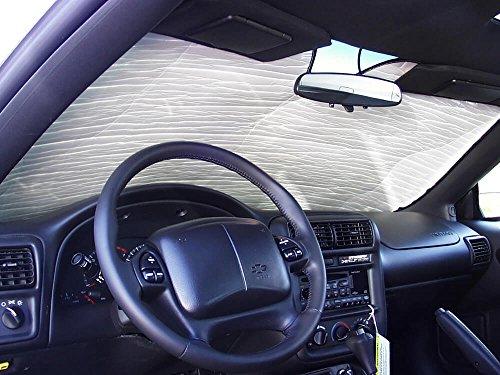 (The Original Windshield Sun Shade, Custom-Fit for Pontiac Firebird Coupe 1993-2002, Silver Series)