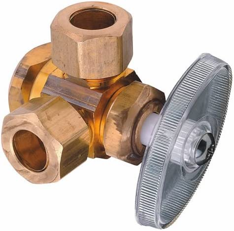 Apollo Valves AFDOSCOMP 1//2-inch x 3//8-inch Dual Outlet Stop Valve