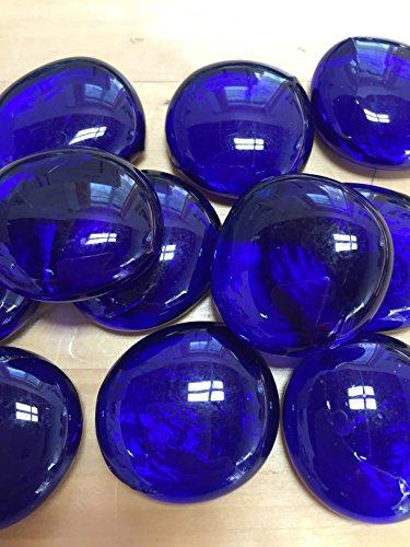 (Sun and Moon Glass Gems/ DEEP BLUE Glass Gems, Large)