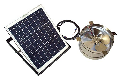 Rand Solar Powered Attic Gable Fan - 30 Watt Solar Panel - 1911 CFM Ventilator Fan - With Thermostat