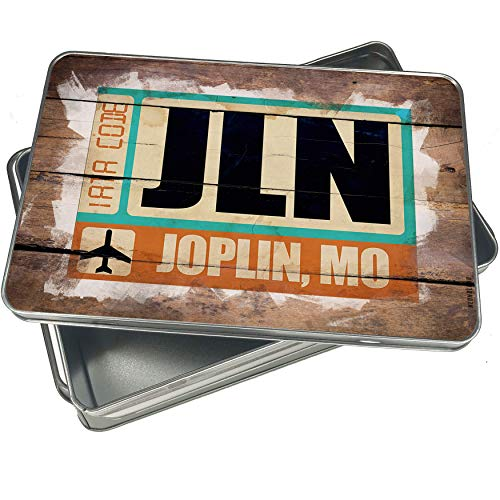 NEONBLOND Cookie Box Airportcode JLN Joplin, MO Christmas Metal Container ()