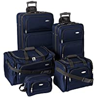 Samsonite 5-Piece Nested Travel Luggage Set (Navy)