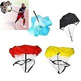 Constructan(TM)56'' Speed Resistance Training Parachute Running Chute Soccer Football Training Parachute Umbrella Blue