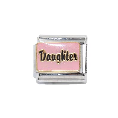 Talexia and Nomination charms fits Zoppini Mum pink sparkly Italian Charm