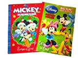 Disney Mickey Mouse Christmas Coloring Book Set (2 Coloring Books)