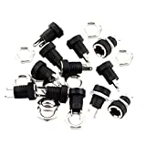 ThreeBulls 12 Pieces 5.5mmx2.1mm DC Power Jack Female Panel Mount Connector