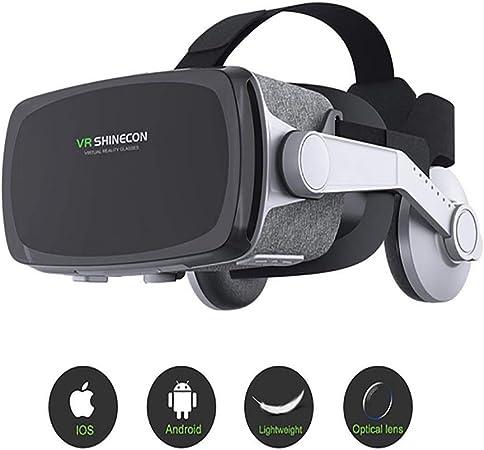 Shfmx 3D Realidad Virtual Headset, VR SHINECON VR Gafas VR Auriculares para TV, películas y videojuegos-3D VR Gafas compatibles con iOS, teléfonos Dentro de 4.7-6.0 Pulgadas: Amazon.es: Hogar