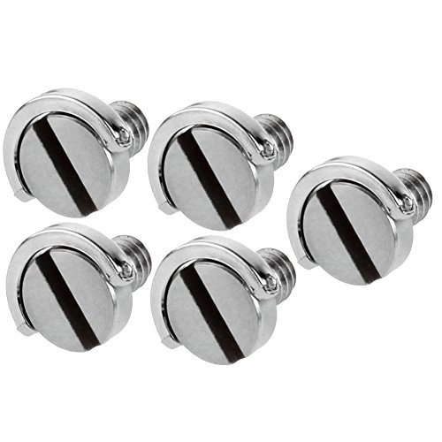 Neewer Stainless Steel D Shaft D-ring 1/4 Mounting Screw 0.39/10mm Shaft for Camera Tripod Monopod or Quick Release (QR) Plate -5 Pack