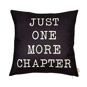 Amazon.com: Fjfz Just One More Chapter - Funda de cojín con ...