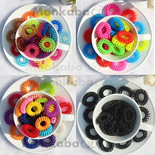 (1 piece Random Color Gum Telephone Wire Elastic Hair Bands Ties Rings Rubber Ponytail Holder Bracelets Headbands Hair Accessories )