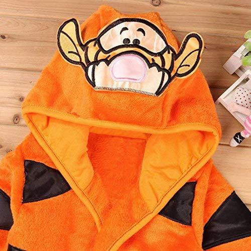 Notte Lovelegis Tigre Bambino Tigro Personaggi con Cappuccio Pigiama da Camera Vestaglia Arancione Morbido Pile Accappatoio