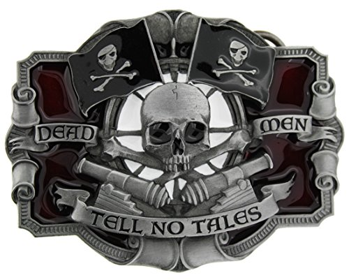 Buckle Bandit Dead Men Tell No Tales Gürtelschnalle in einer meiner Präsentationsschachteln.