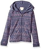 Roxy Little Girls' Make Me Swim Hooded Sweatshirt, Aztec Geo Combo Night Shadow, 4